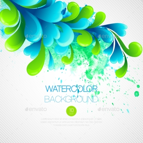 Watercolor Background  - Abstract Conceptual