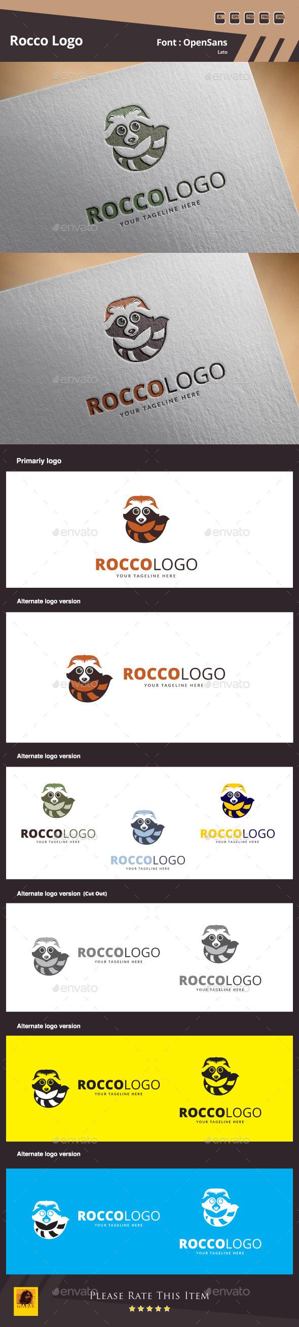 Rocco Logo Template - Animals Logo Templates