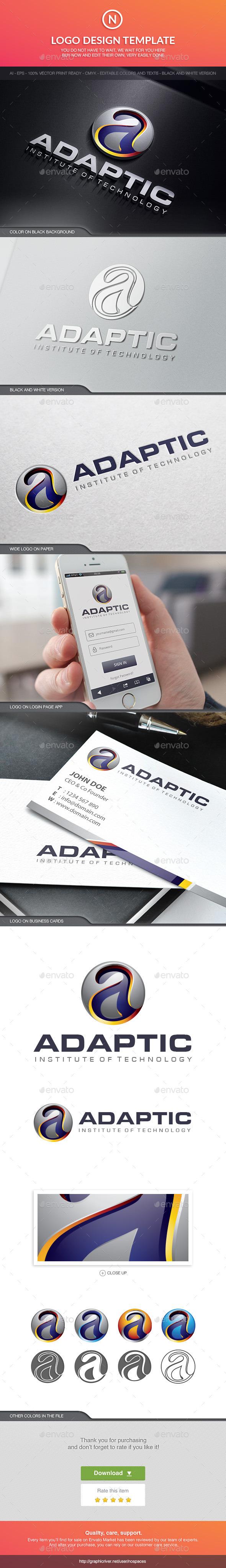 Adaptic Institute - Letters Logo Templates