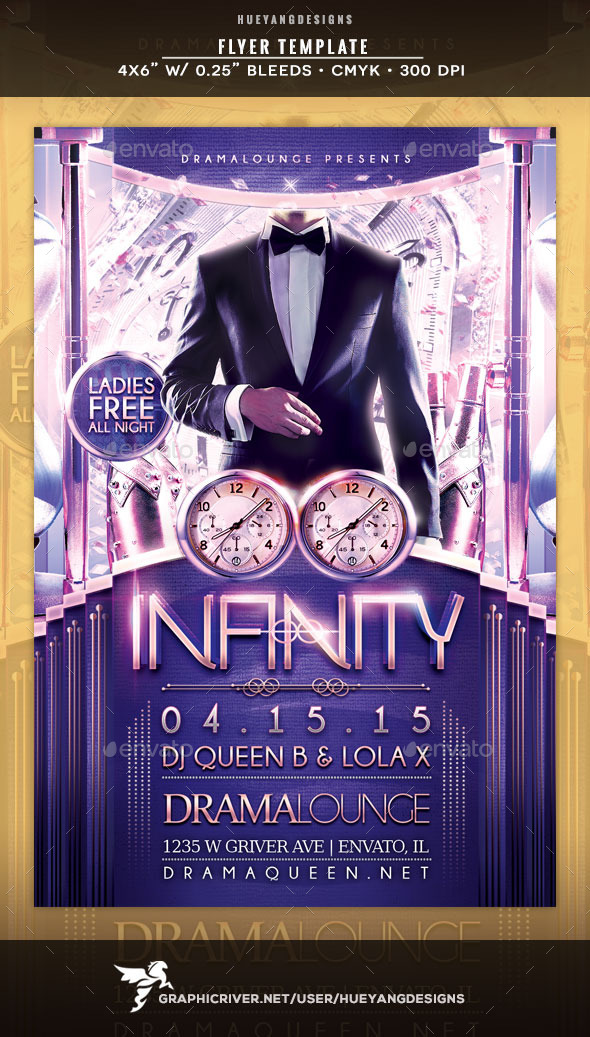 Infinity Flyer - Clubs & Parties Events