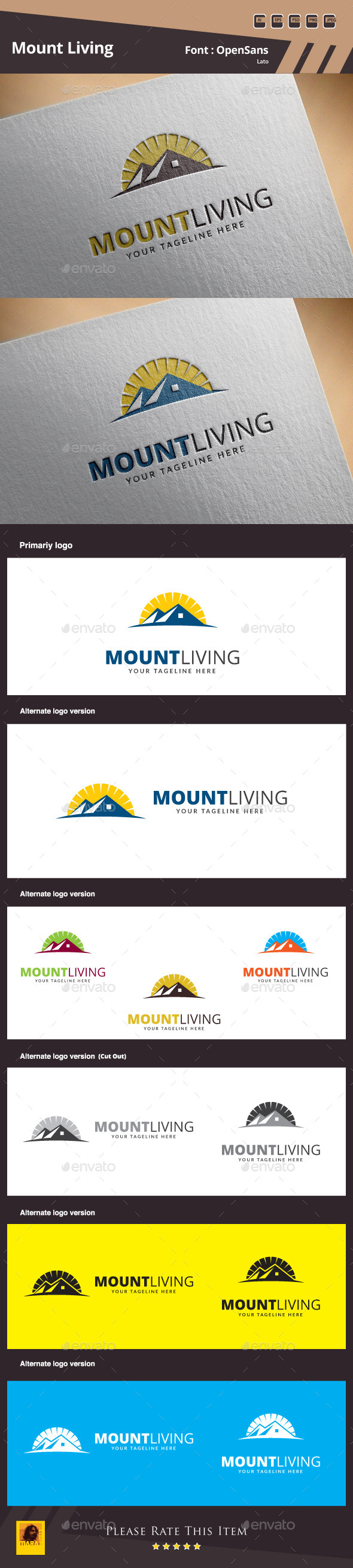 Mount Living Logo Template - Buildings Logo Templates