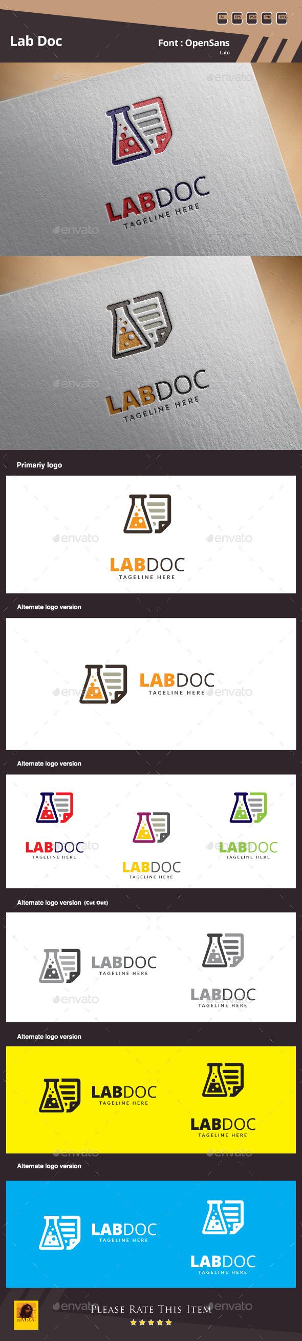 Lab Doc Logo Template - Symbols Logo Templates
