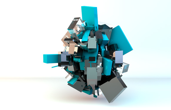 abstract cubes lighting setup