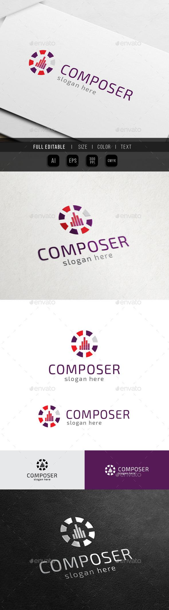 Sound Mixing - Music Composer - Symbols Logo Templates