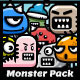9 Enemy Land Monster Spritesheets - GraphicRiver Item for Sale
