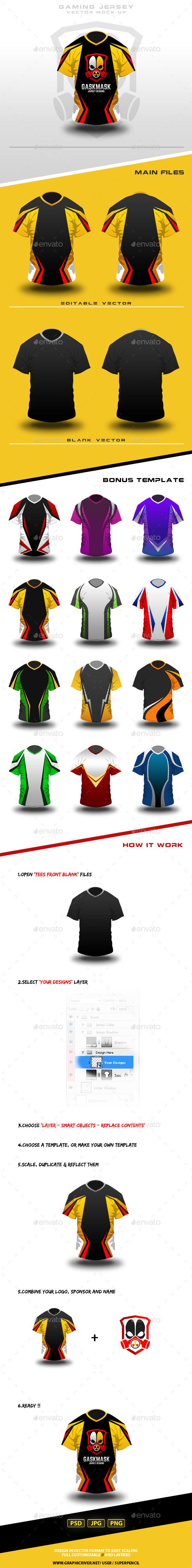 Gaming Jersey Mock-Up - T-shirts Apparel
