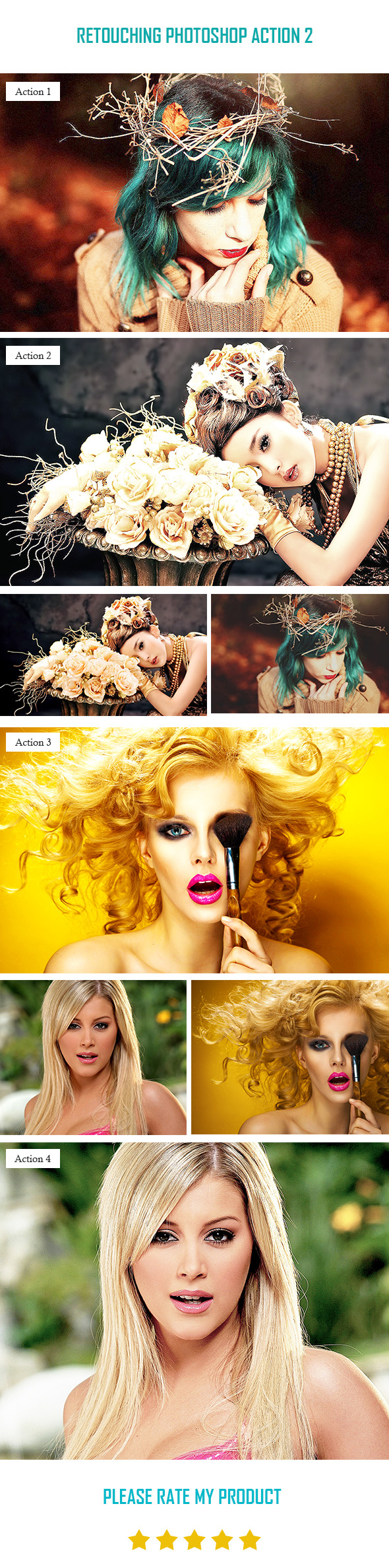 Retouching Photoshop Action 2 - Photo Effects Actions