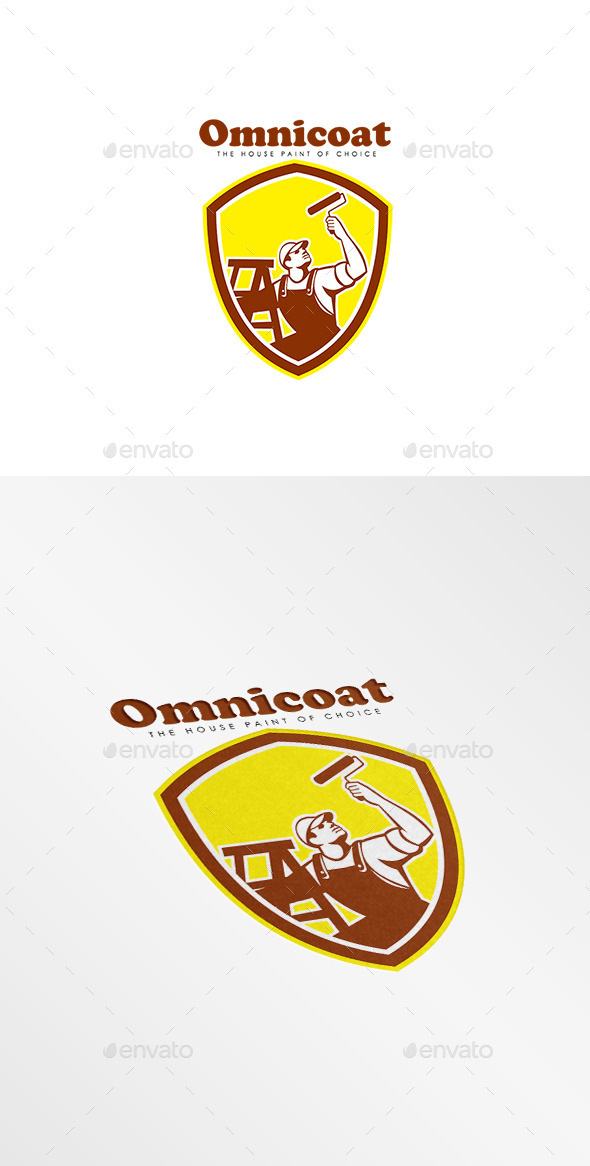 Omnicoat House Painters Logo - Humans Logo Templates