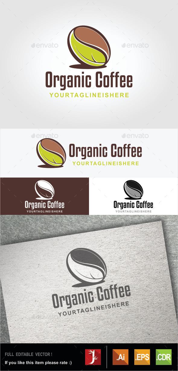 Organic Coffee - Food Logo Templates