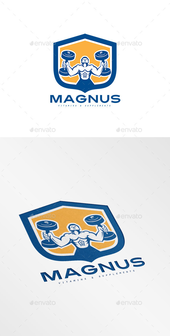 Magnus Vitamins and Supplement Logo - Humans Logo Templates
