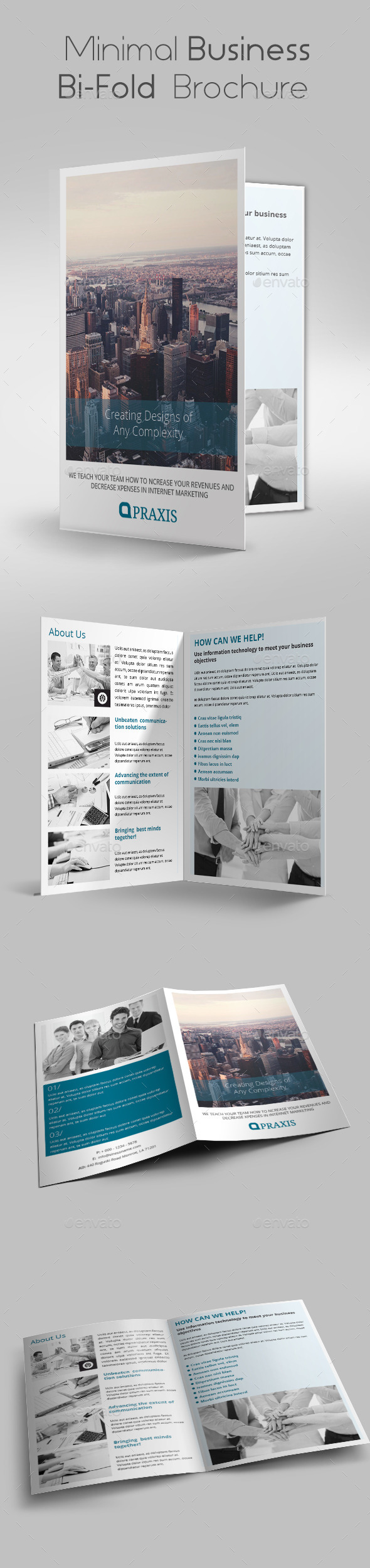 Minimal Business Bi-Fold Brochure - Corporate Brochures