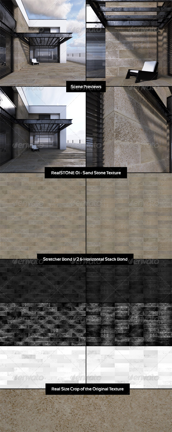 RealSTONE 01 - Sand Stone Texture - 3DOcean Item for Sale