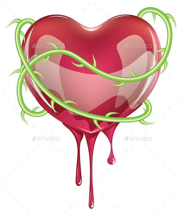 Bleeding Red Heart - Valentines Seasons/Holidays