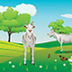 Goats and Green Lawn - GraphicRiver Item for Sale