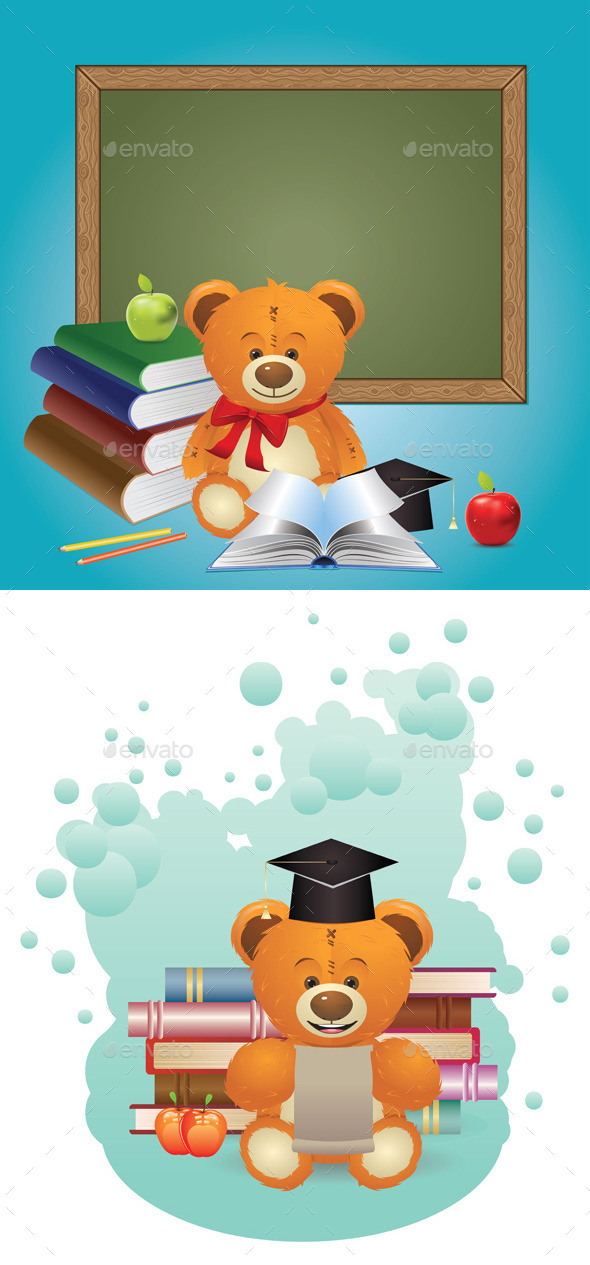 School Teddy Bear - Miscellaneous Vectors