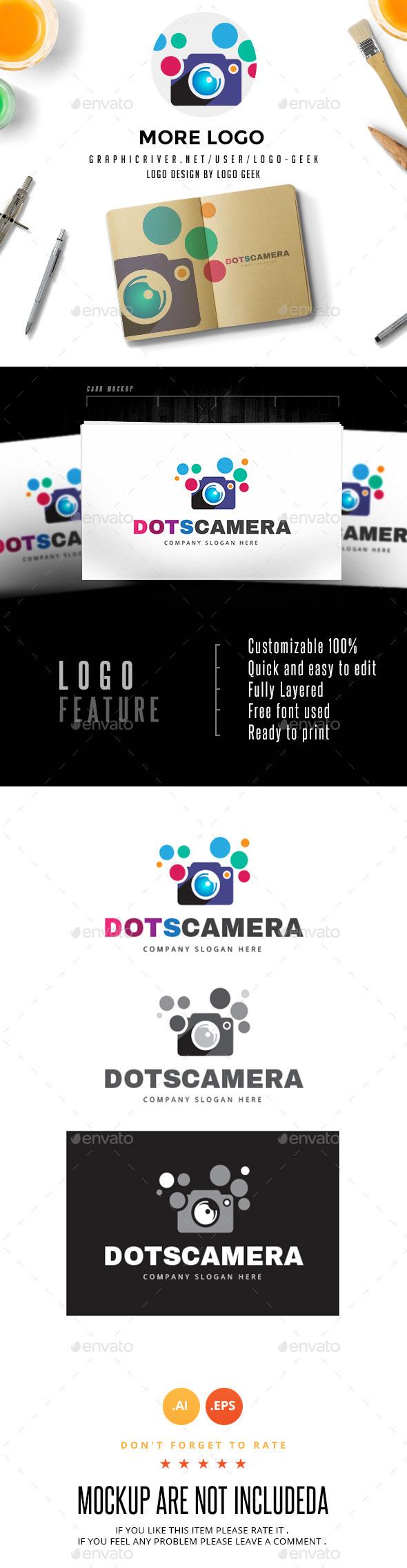 Dots Camera Logo - Objects Logo Templates