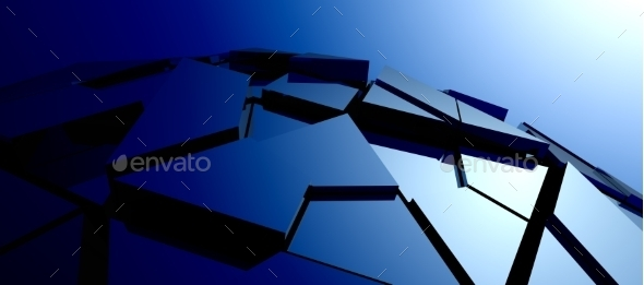 Abstract Background of 3D High Tech Structure - 3D Backgrounds