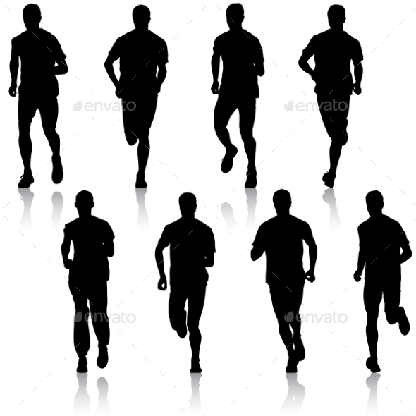 Running Silhouettes  - Sports/Activity Conceptual