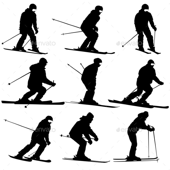 Skier Silhouette  - Sports/Activity Conceptual
