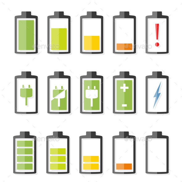 Battery Icons - Miscellaneous Vectors