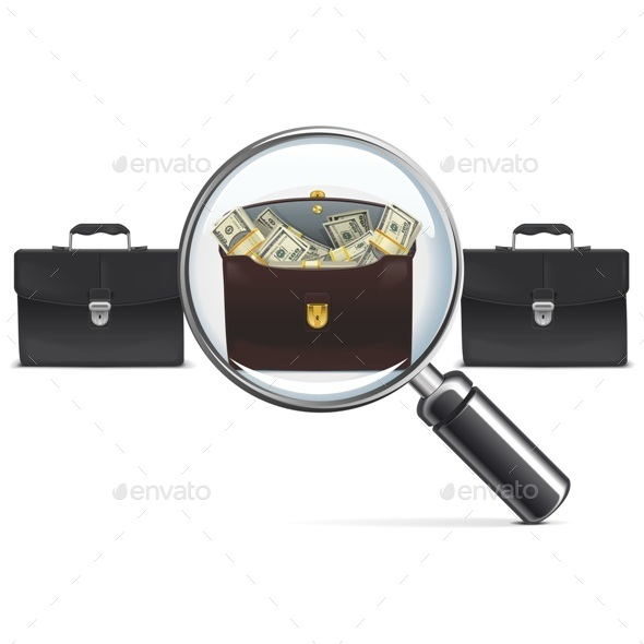 Investment Briefcase with Lens - Concepts Business
