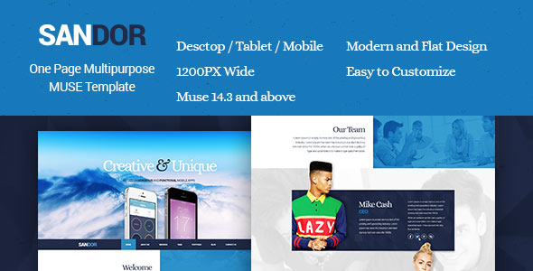 Sandor - Creative Multipurpose Muse Template - Creative Muse Templates