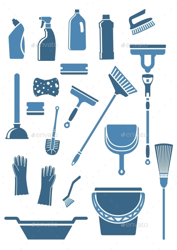 Domestic Cleaning Tools and Supplies - Man-made Objects Objects