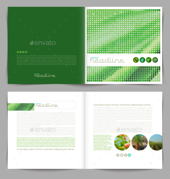 Vector Template Eco Booklet Design - Conceptual Vectors