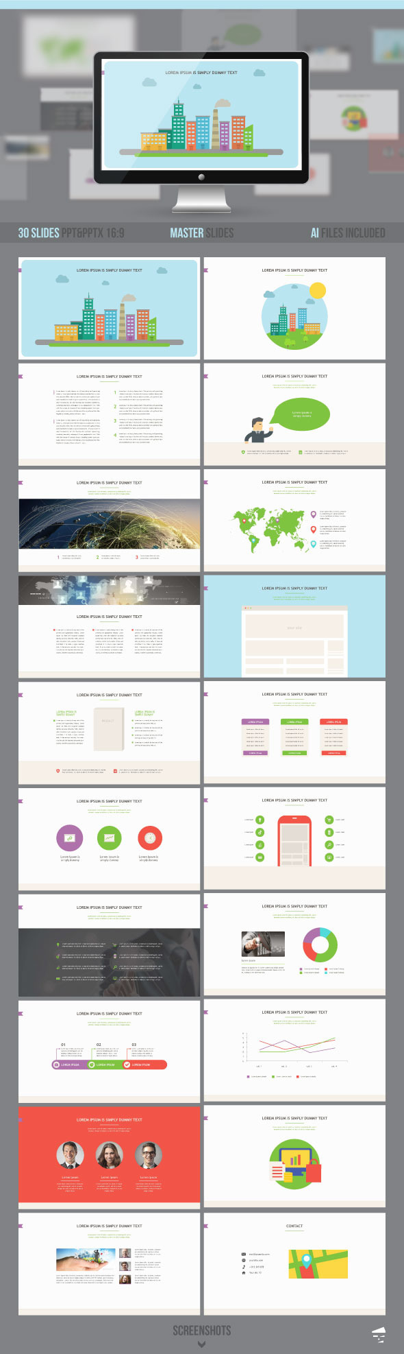 Business presentation template - Business PowerPoint Templates