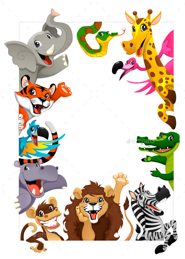 Group of Jungle Animals - Animals Characters