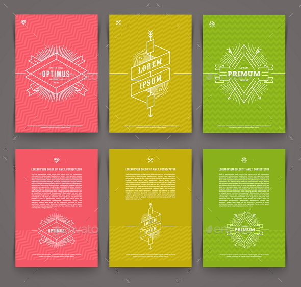 Set of Abstract Template Flyer Page Design - Vectors