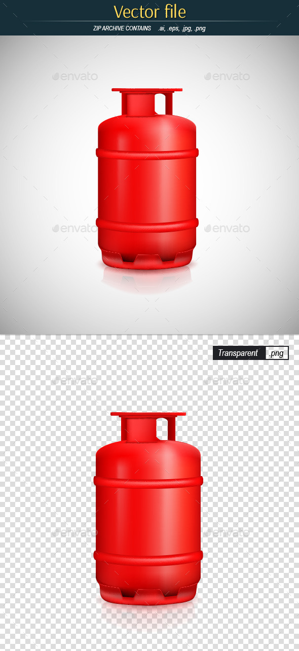 Propane Gas Tank - Man-made Objects Objects