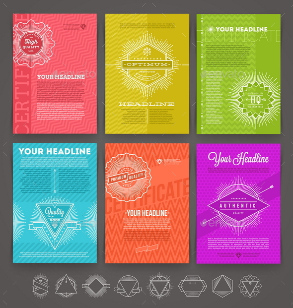 Set of Abstract Template Flyer Page - Vectors