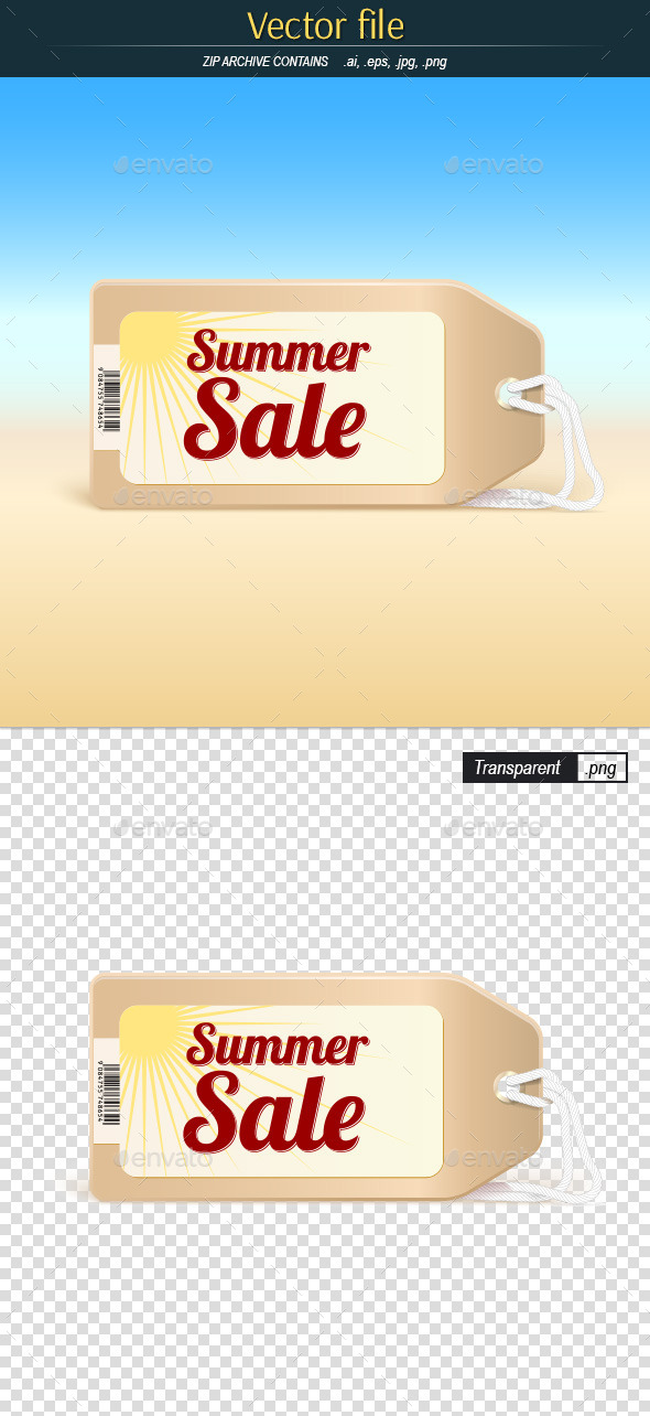 Summer Sale Tag - Commercial / Shopping Conceptual