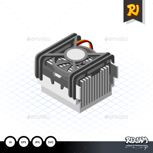 Isometric Fan Processor Socket 478 - Computers Technology