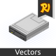Isometric Floppy Drive - GraphicRiver Item for Sale