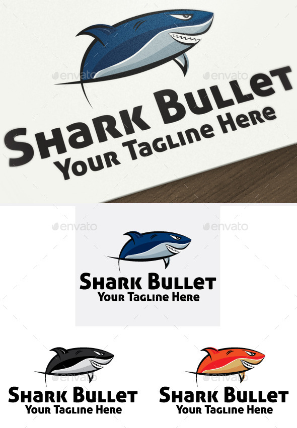 Shark Bullet - Animals Logo Templates