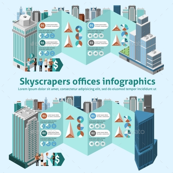 Skyscraper Offices Infographics - Infographics