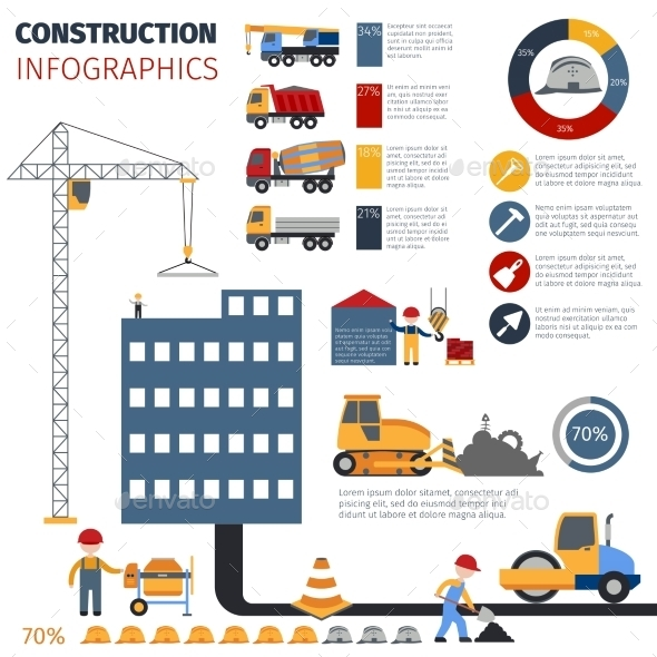 Construction Infographics Set - Infographics
