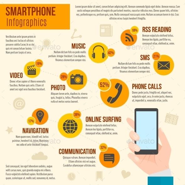 Smartphone Infographics Set - Infographics