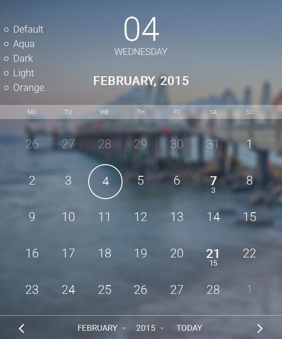 Multipurpose Responsive PHP AJAX Calendar