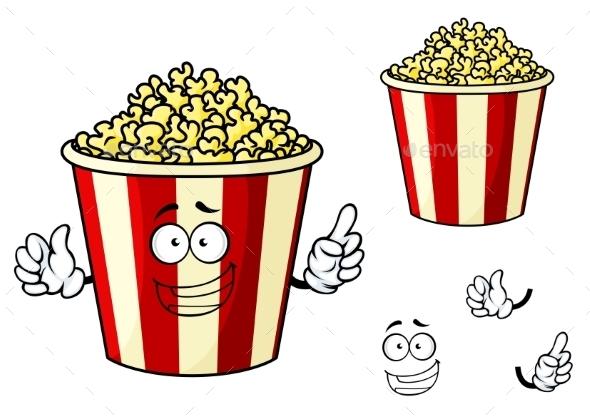 Cartoon Box of Popcorn - Miscellaneous Characters