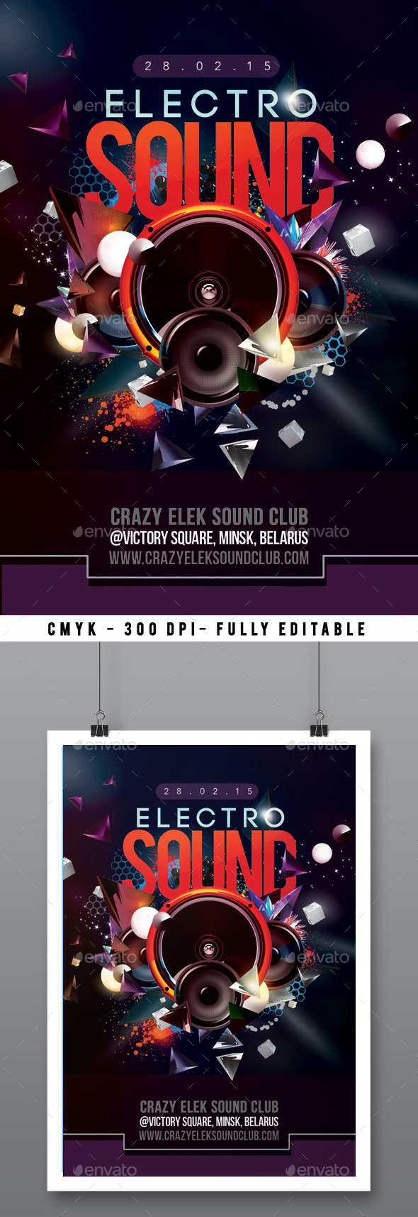 Abstract Electro Sound Night Party In Club - Clubs & Parties Events