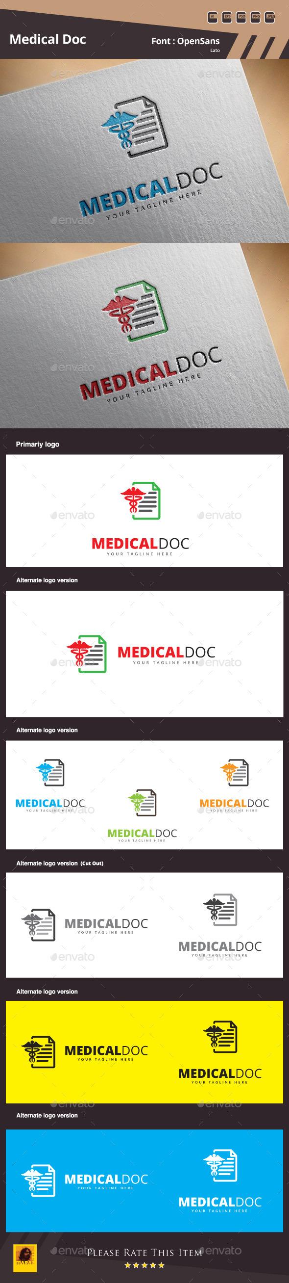Medical Doc Logo Template - Symbols Logo Templates