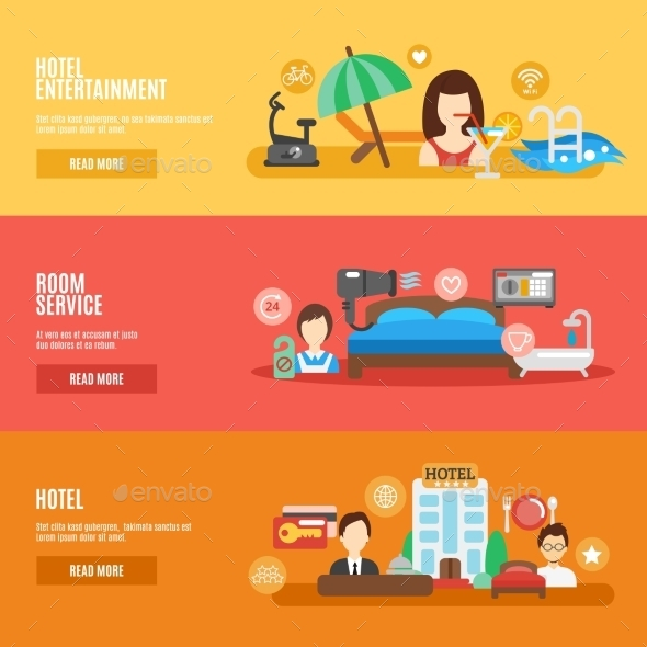 Hotel Banner Set - Business Conceptual