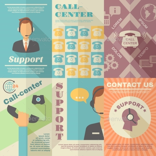 Support Call Center Poster - Technology Conceptual