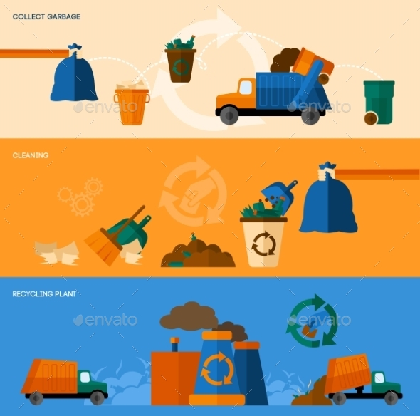 Garbage Banner Set - Nature Conceptual