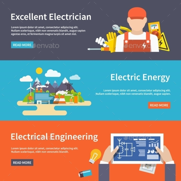 Electricity Banner Set - Concepts Business