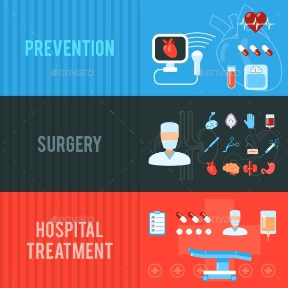 Surgery Banners Set  - Health/Medicine Conceptual