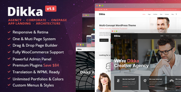 Dikka - Responsive Multi-Concept WordPress Theme